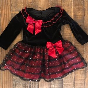 Kid's - Bonnie Baby Holiday Dress - Size: 12-month